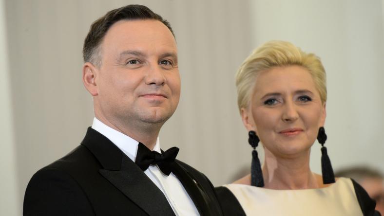 18111233 - WARSZAWA PREZYDENT KORPUS DYPLOMAT. SPOTKANIE NOWOROCZNE (Andrzej Duda, Agata Kornhauser-Duda)