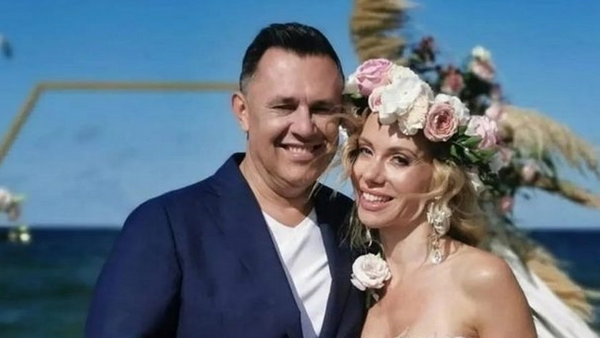 Małgorzata Opczowska wzięła ślub z Jackiem Łęskim na plaży w Jastarni