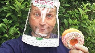 You Can Make a Coronavirus Face Shield in 2 Minutes Using a Krispy Kreme Box