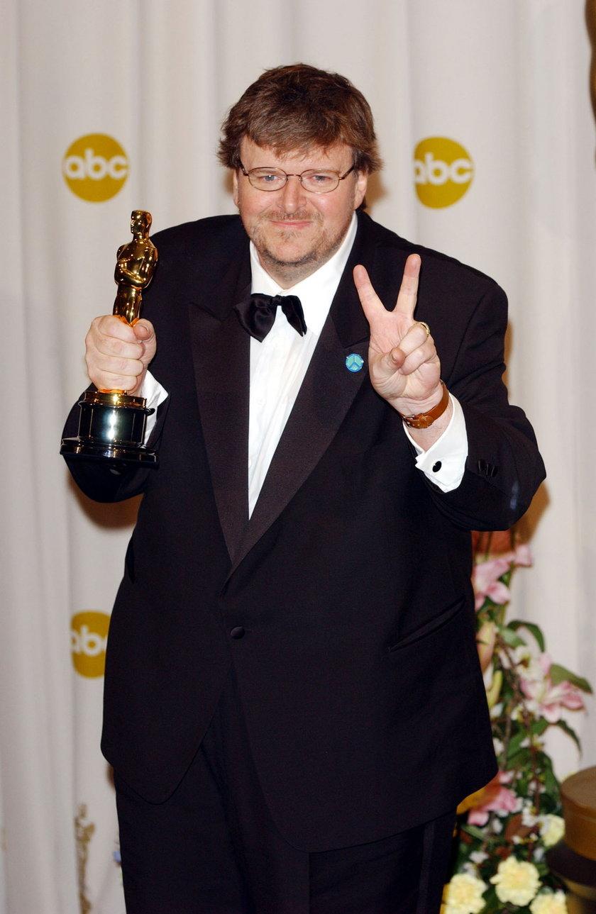 Michael Moore z Oscarem