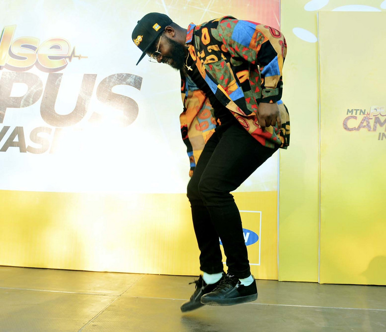 Falz performing at the MTN Pulse Campus Invasion, Kwara State.