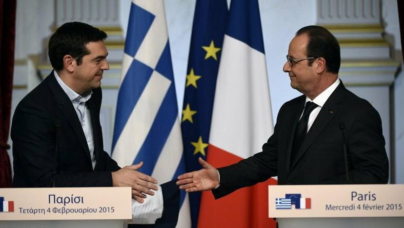 Aleksis Cipras ma jeszcze jednego przyjaciela w Europie  - prezydenta Francji Francoisa Hollande'a