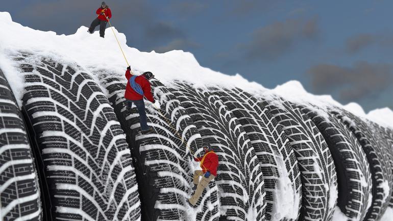Test opon zimowych