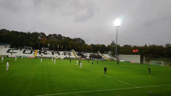 Detalj sa početka utakmice Čukarički - Partizan