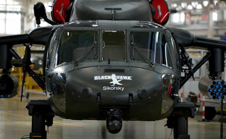 Śmigłowiec Black Hawk w zakładach w Mielcu