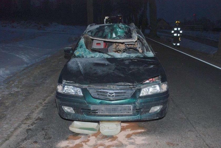 Wypadek za miejscowością Leśniewo