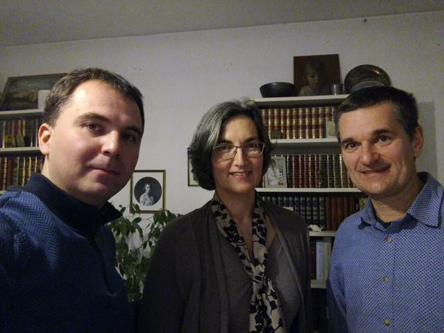 """Osnivači """"Adligata"""" Viktor Lazić (levo) i Milan Varadinović (desno) sa Svetlanom Marković"""