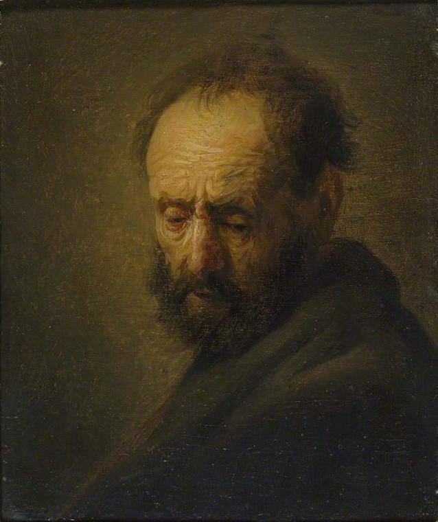 "Rembrandt, ""Head of Bearded Man"""