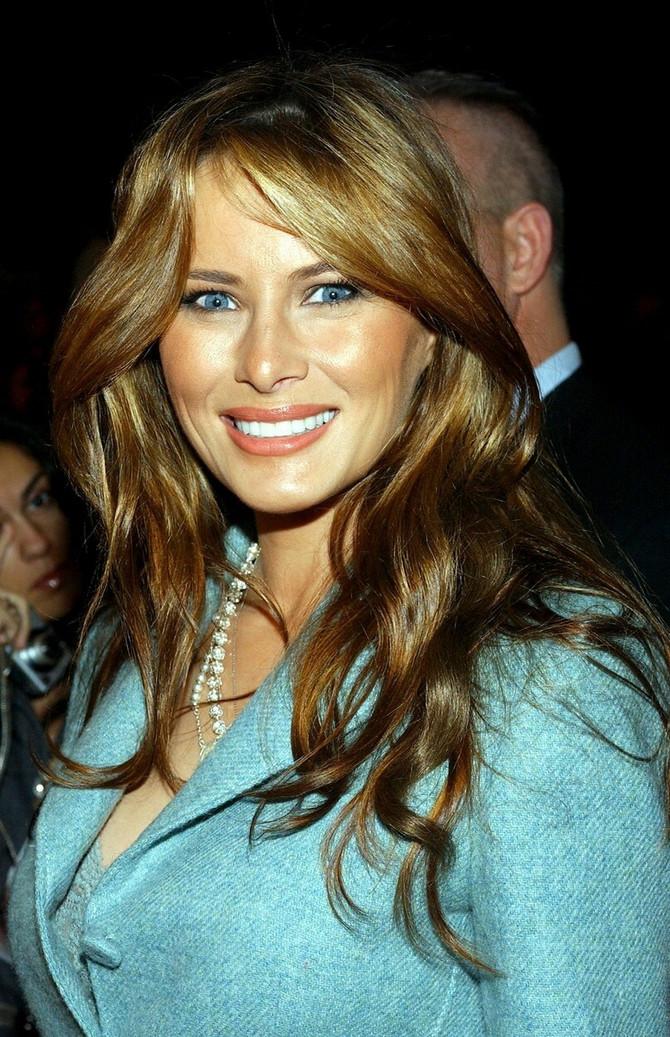 Melanija 2005. na reviji u Njujorku