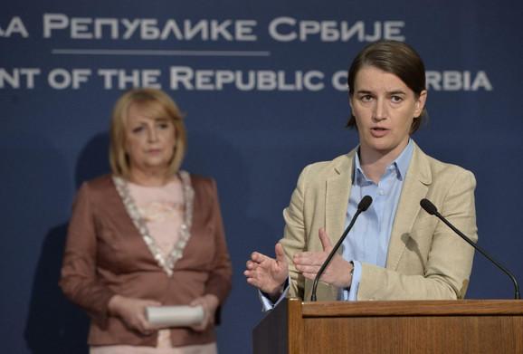 Nakon konstitutivne sednice Saveta, Slavica Đukić Dejanović i Ana Brnabić održale su pres konfereniciju