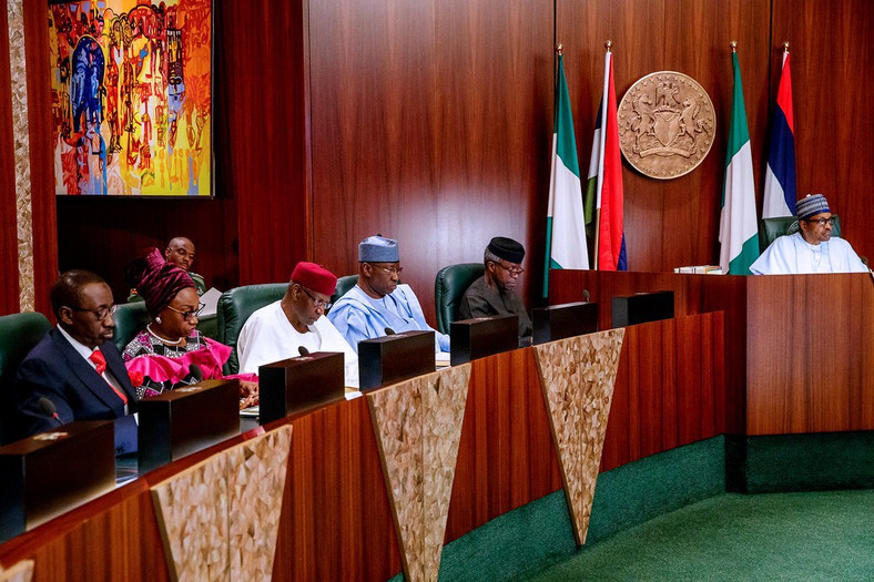 President Buhari at valedictory Session of federal executive council in May (NGRPresident)
