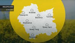 Prognoza pogody dla woj. małopolskiego - 23.09
