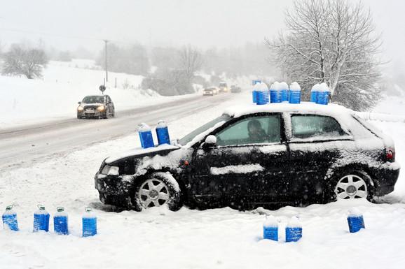 Sneg na magistrali Užice-Zlatibor