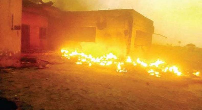 Another INEC facility set on fire in Imo state (TheWill)
