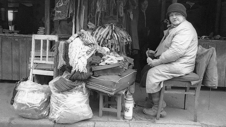 Bazar Ciuchy w Warszawie w latach 70.