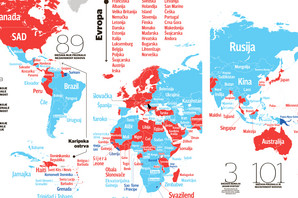 """101-89-3"" Detaljna mapa otkriva kakav je skor u diplomatskoj borbi za Kosovo, a GLAVNI TEST TEK SLEDI (MAPA)"