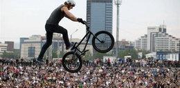 Freestilowe show cyklistów