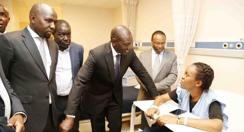 Deputy President Visits Victims of Dusit Attack in Hospitals