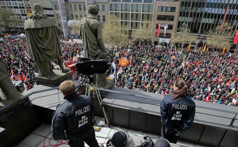 Protest w Hanowerze przeciw TTIP