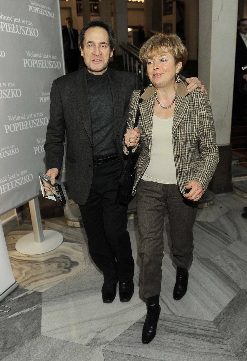 Jerzy Zelnik z żoną Urszulą