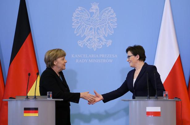 Ewa Kopacz i Angela Merkel.