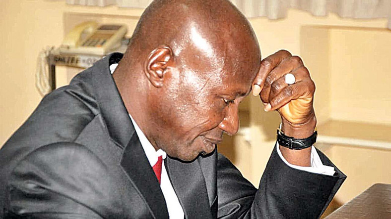 Ibrahim Magu was recently accused of re-looting funds recovered by he EFCC. (Vanguards)