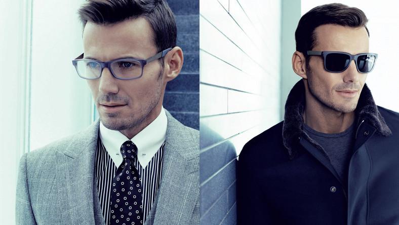 Przeciwsłoneczne i optyczne oprawy dla mężczyzn z industrialnym powiewem chłodnej elegancji i surowego minimalizmu. Wzbogacone o niespotykany kontrast pomiędzy acetatowymi kwadratowymi frontami opraw, a metalowymi zausznikami.