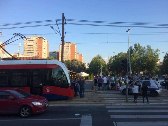 Tramvaji su bili blokirani