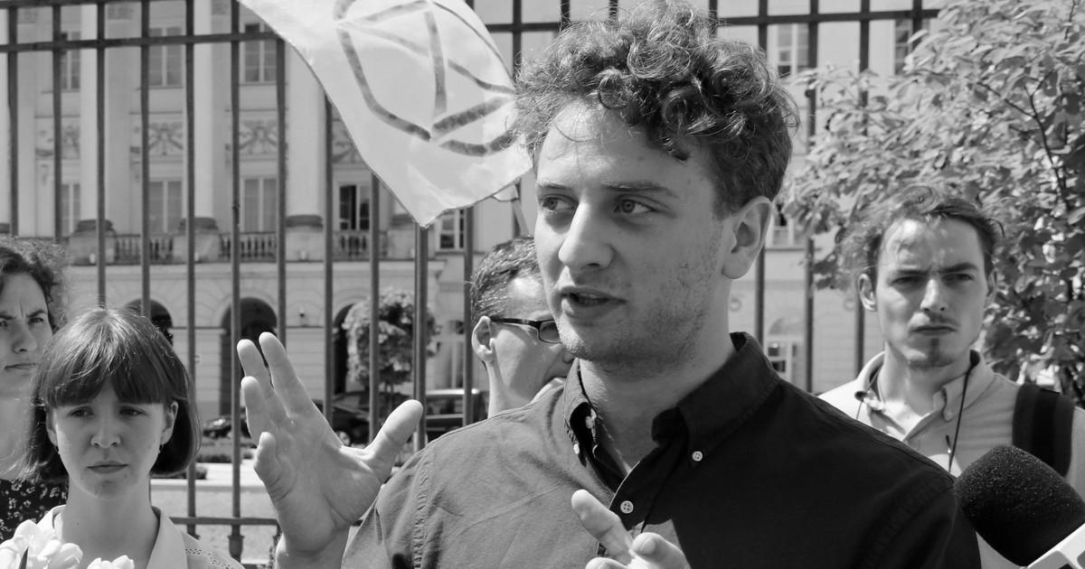Warszawa. Nie żyje 27-letni aktywista Beniamin Łuczyński