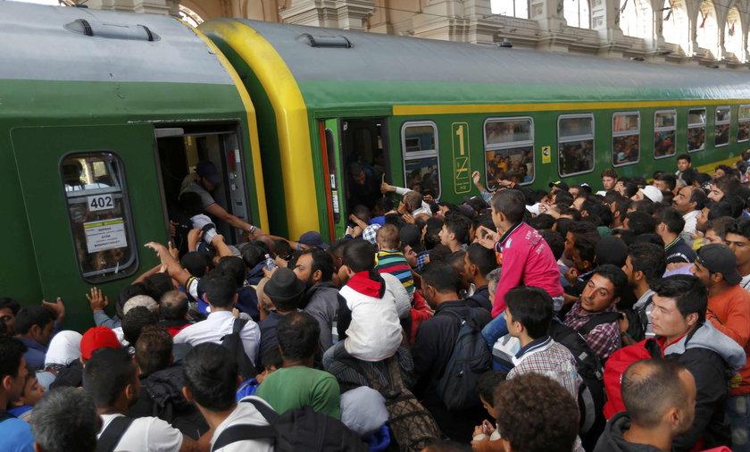 uchodżcy imigranci budapeszt