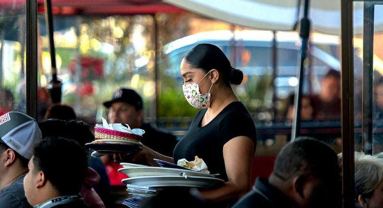 The number of people working in the restaurant industry fell in August for the first time since April 2020.