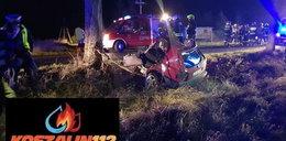 Horror pod Koszalinem. Samochód rozpadł się na pół