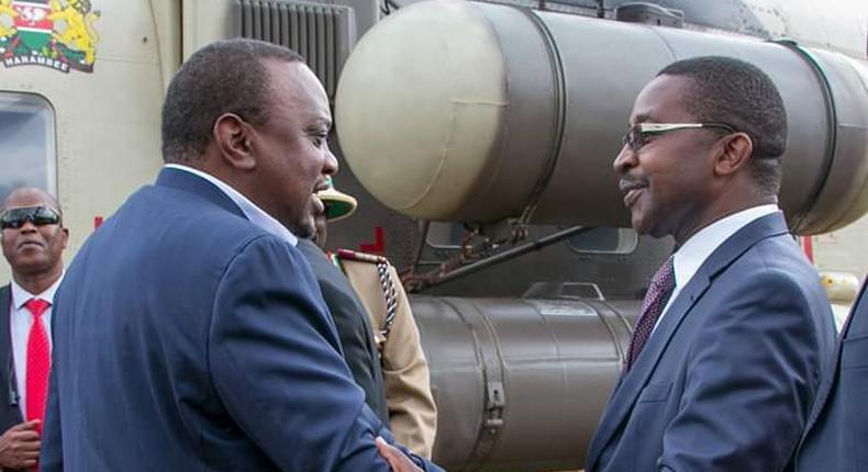 Uhuru arrives at John DeMathew's funeral