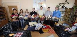 Uczniowie pomagają powodzianom z Bierunia