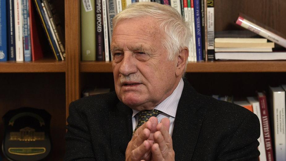 Były prezydent Czech Vaclav Klaus zakażony koronawirusem