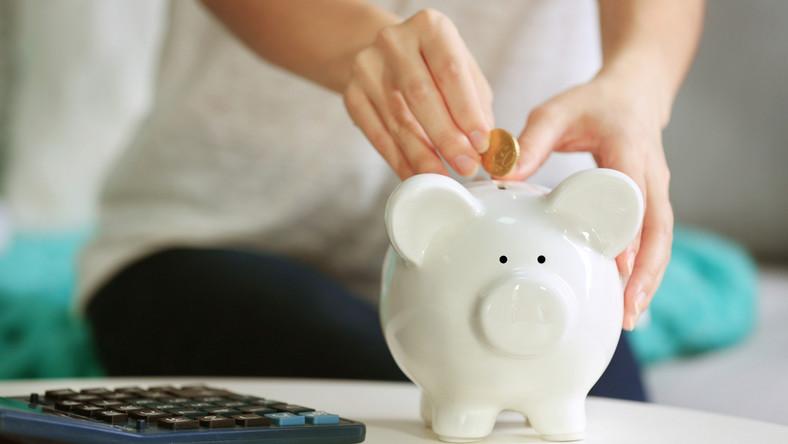 pieniądze oszczędności skarbonka kalkulator kredyt fot. shutterstock
