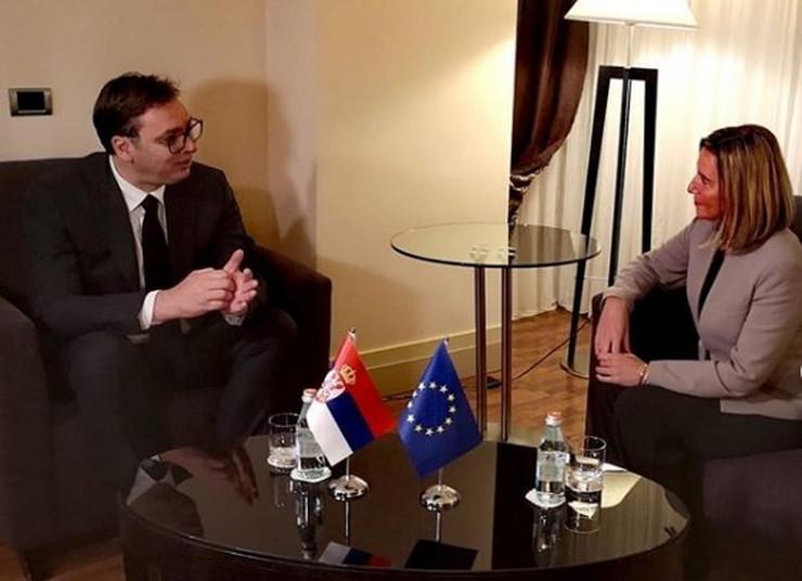 Aleksandar Vučić Federika Mogerini Instagram