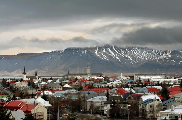 Panorama Reykjaviku, stolicy Islandii