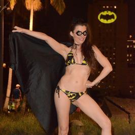 Amerykańska aktorka znowu szokuje, Tym razem przebrała się za dziewczynę Batmana!