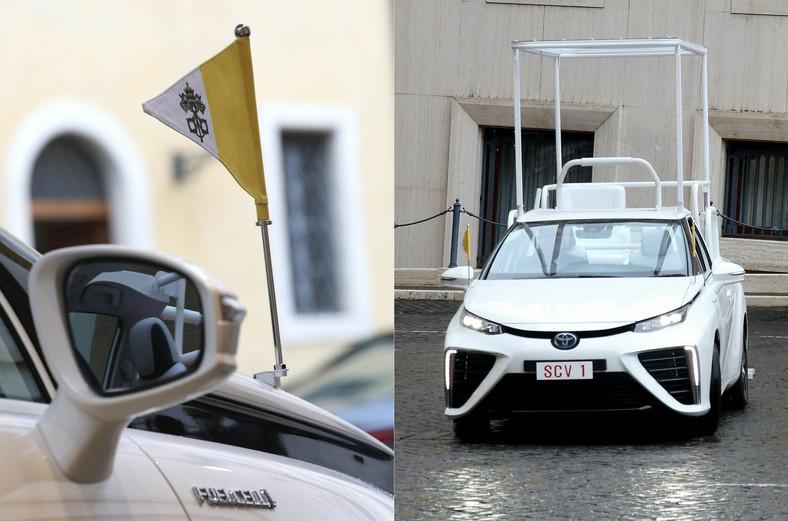 Toyota Mirai jako papamobile papieża Franciszka