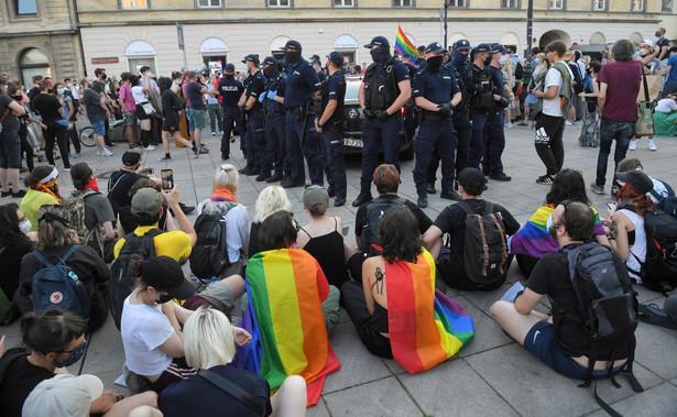 Protest aktywistów LGBT w Warszawie
