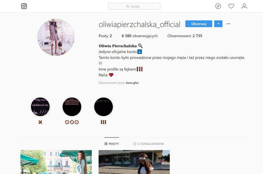 Nowe konto na Instagramie Oliwii P.
