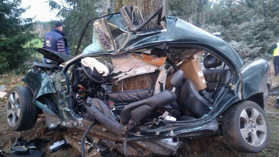 Wielkopolska: miejsce wypadku na DW 180