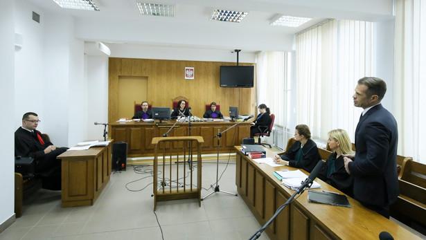 Sławomir Nowak podczas procesu
