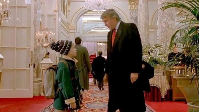"Mekoli Kalkin i Donlad Tramp u filmu ""Sam u kući 2"""