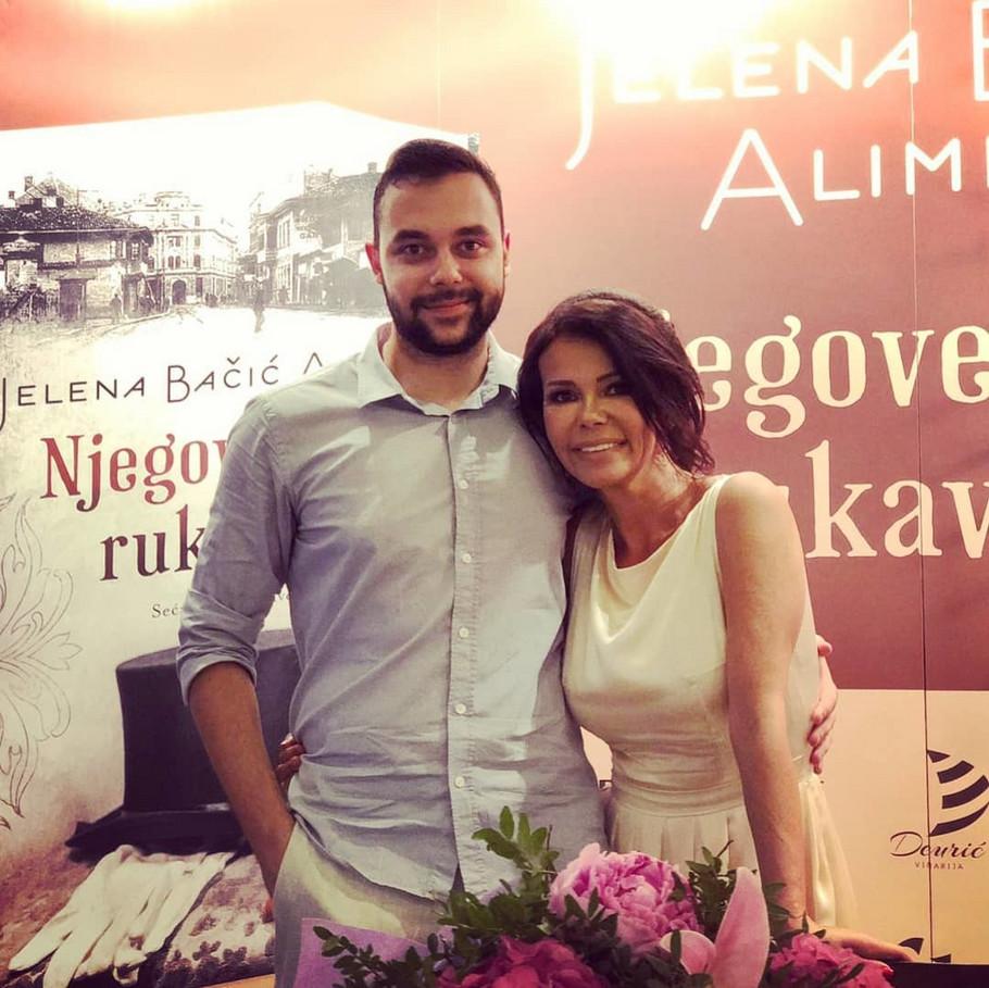 Jelena Bačić Alimpić sa sinom