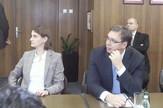 fakultet Aleksandar Vučić i Ana Brnabić na Elektronskom fakultetu, foto. V. Torović