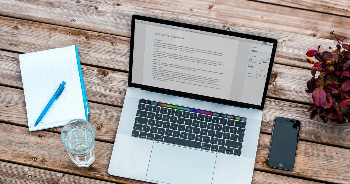 desk & notebook