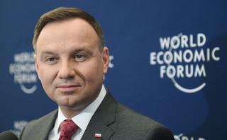 Andrzej Duda w Davos: KE padła ofiarą dezinformacji ze strony opozycji w Polsce