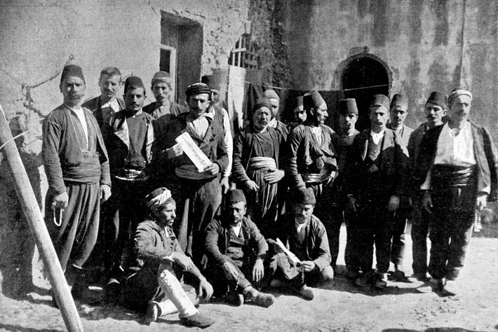 France, 1896, Armenian uprising in Turkey, , Group of Armenians who took part in the attack of the O